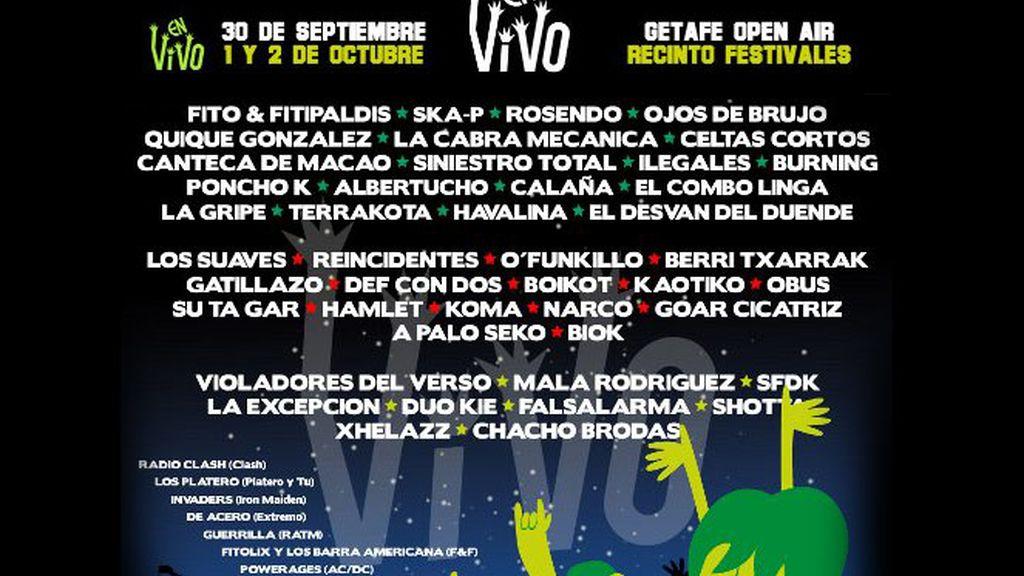 Cartel del festival En Vivo