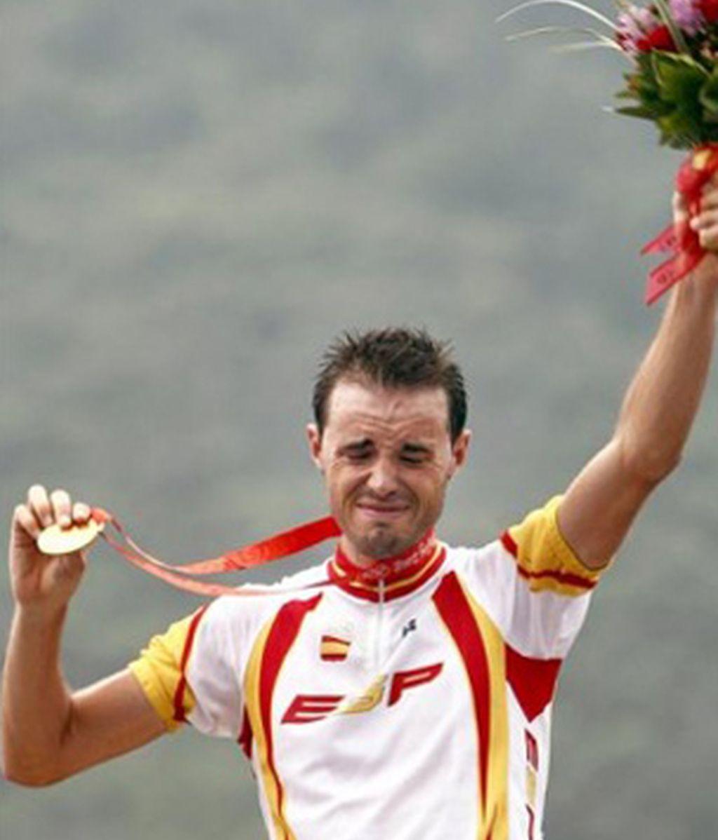 Samuel Sánchez, campeón olímpico de fondo