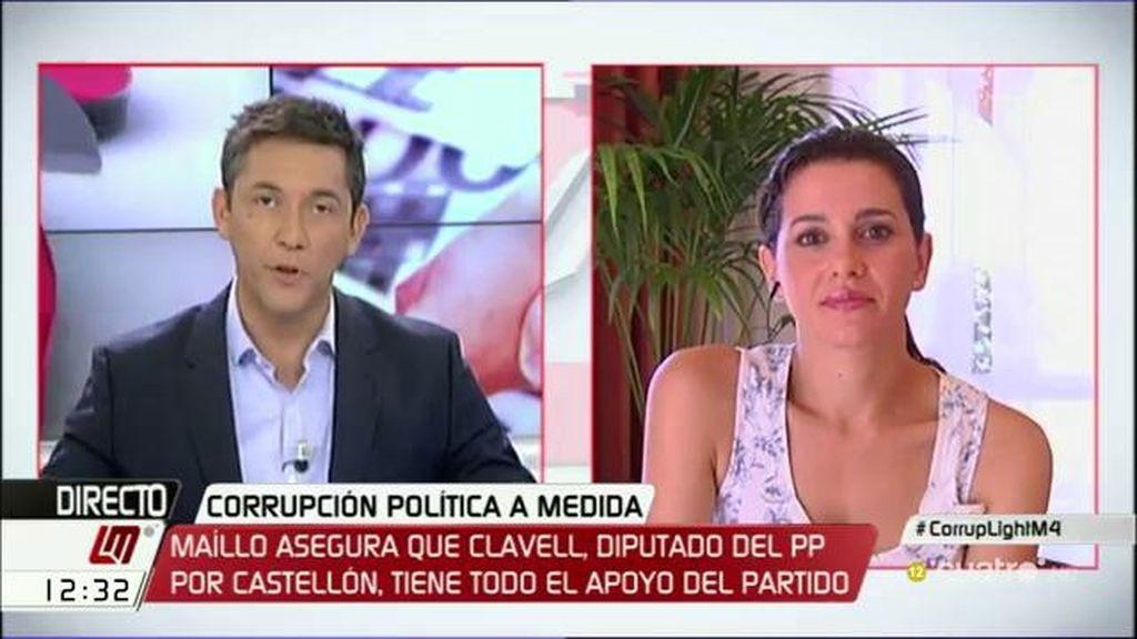 """Inés Arrimadas: """"En corrupción no es lo mismo meter la pata, que meter la mano"""""""