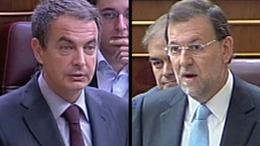 Enésimo rifirrafe entre Zapatero y Rajoy