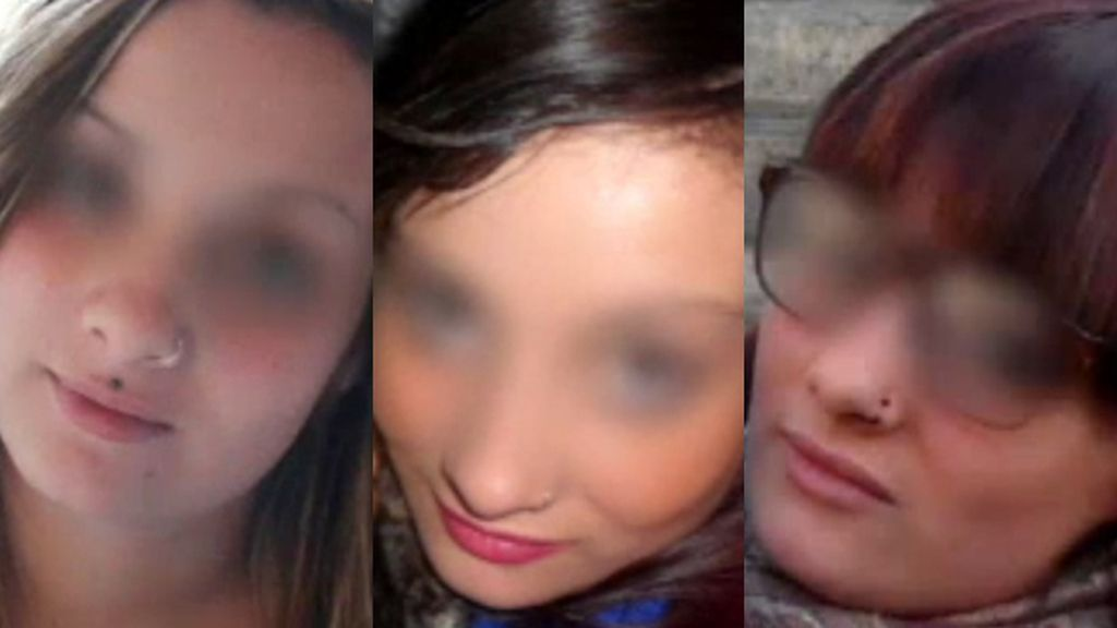 Katia Esteban Casielles,Rocío Oña Pineda y Cristina Arce de la Fuente, las tres víctimas de la avalancha en la fiesta de Halloween en en el pabellón de Madrid Arena