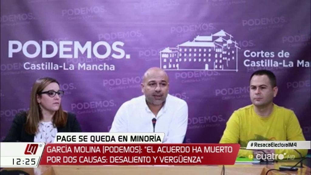 Podemos rompe el acuerdo de presidencia de García-Page en Castilla-La Mancha