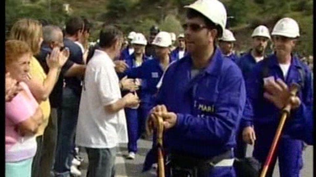 Los mineros, de protesta
