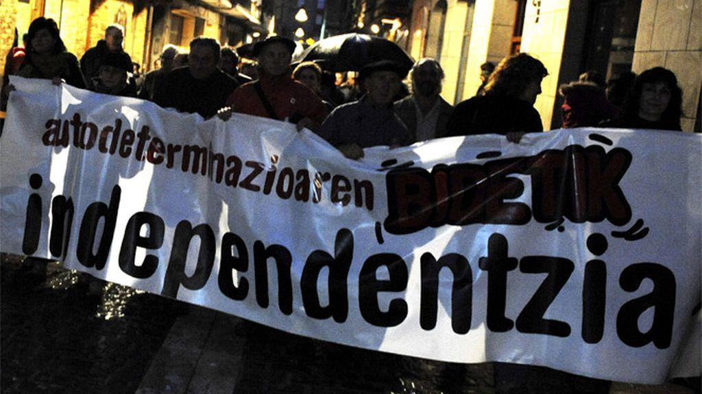 Manifestación de los radicales 'abertzales'