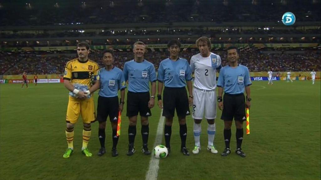 Iker Casillas, capitán de España en el primer partido de la Confederaciones