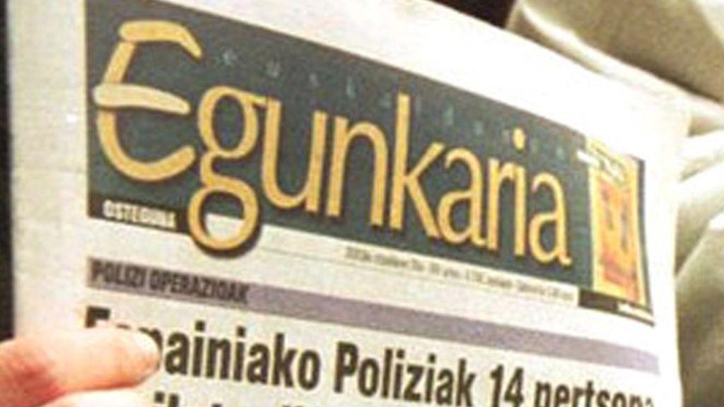 Portada del diario vasco 'Egunkaria'