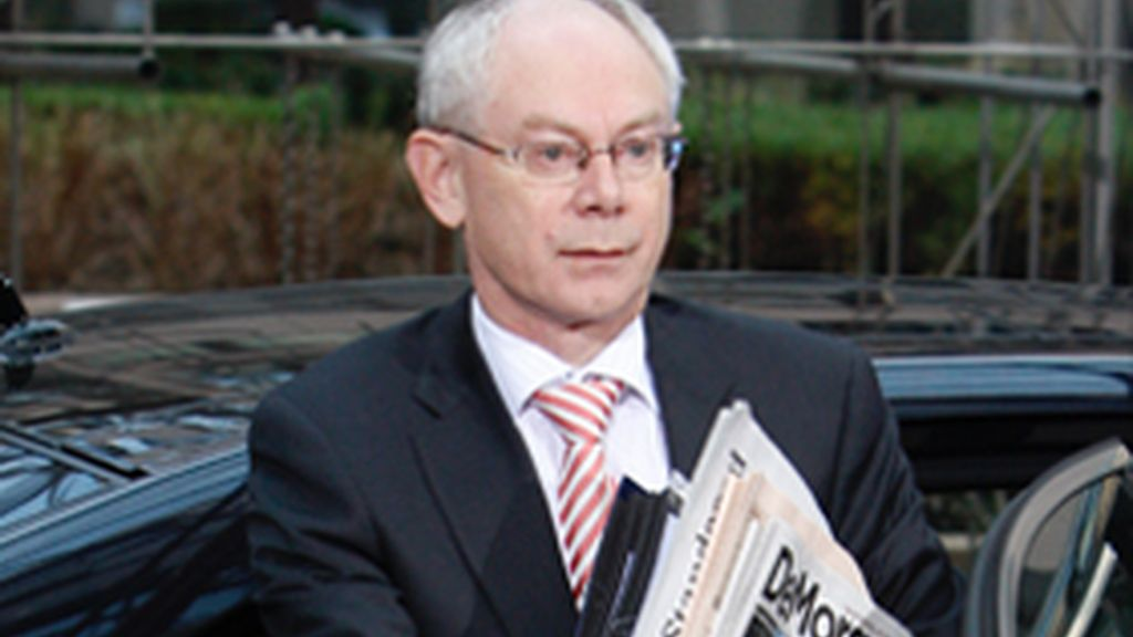 El primer ministro belga y presidente de la UE, Herman van Rompuy
