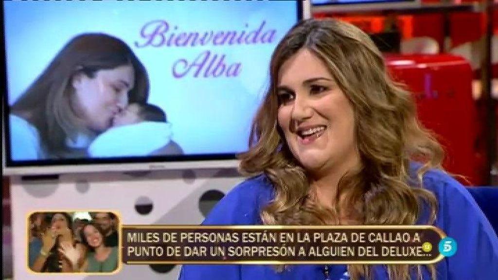"""Carlota Corredera, emocionada: """"Me dio pena que mi hija Alba naciera por cesárea"""""""