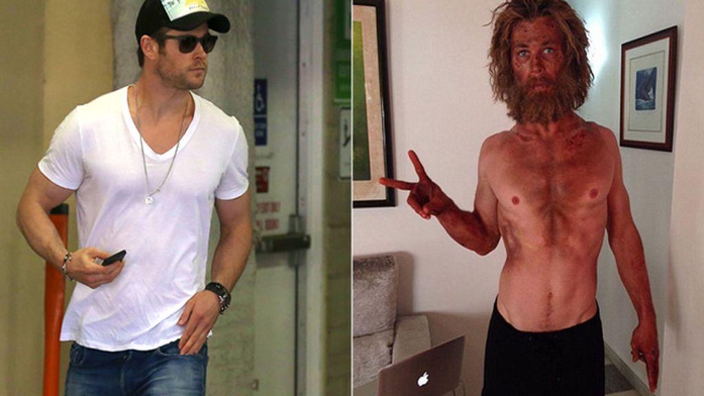 Chris Hemsworth, esquelético para su nueva película