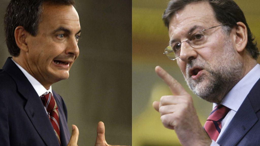 Rajoy y Zapatero enfrentados