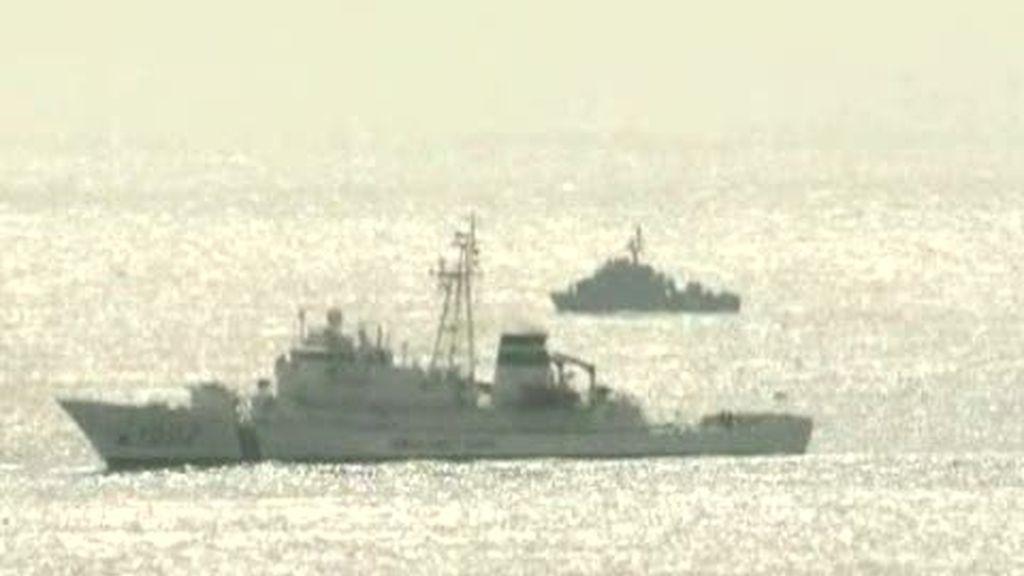 Un buque de guerra se hunde en la frontera entre las Coreas