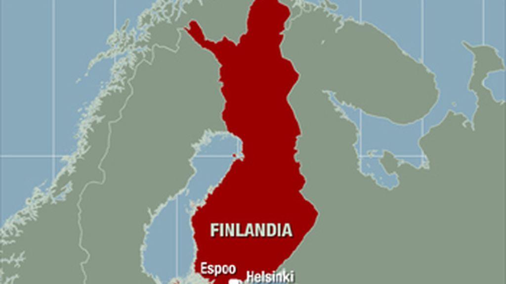 Mapa de la ciudad finlandesa, Espoo, donde ha tenido lugar el tiroteo