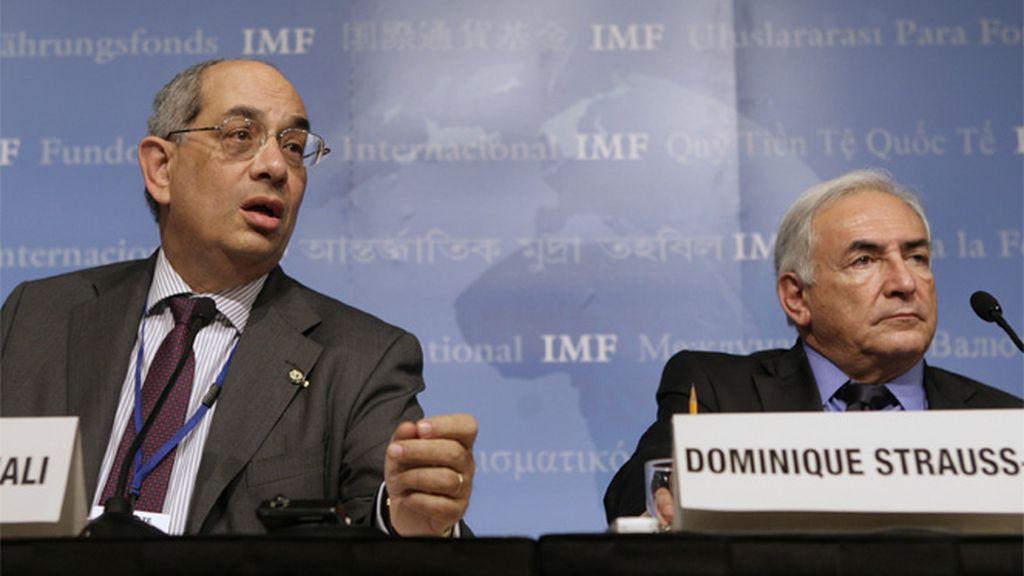 Strauss-Khan en la reunión de primavera del FMI