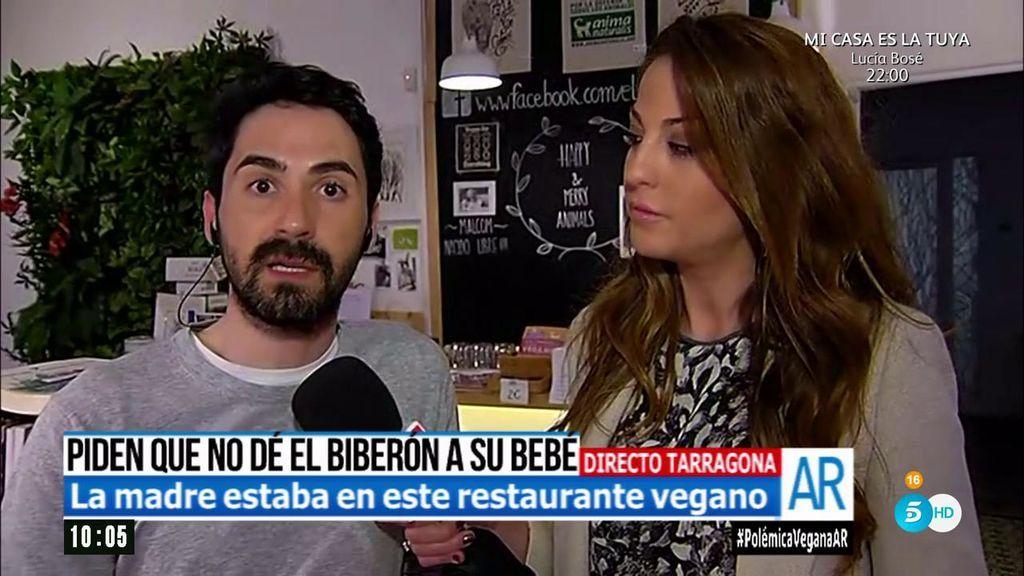 """Propietario del restaurante vegano: """"Nunca hemos expulsado a nadie por dar un biberón"""""""