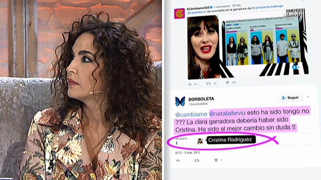 Natalia se enfada con Cristina por un tuit
