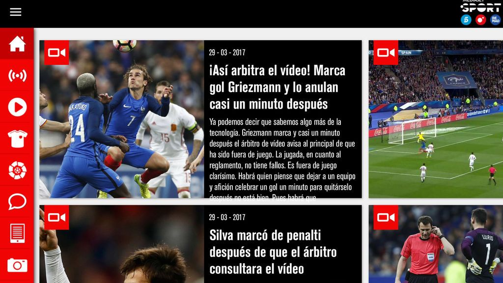 App Mediaset - Sport