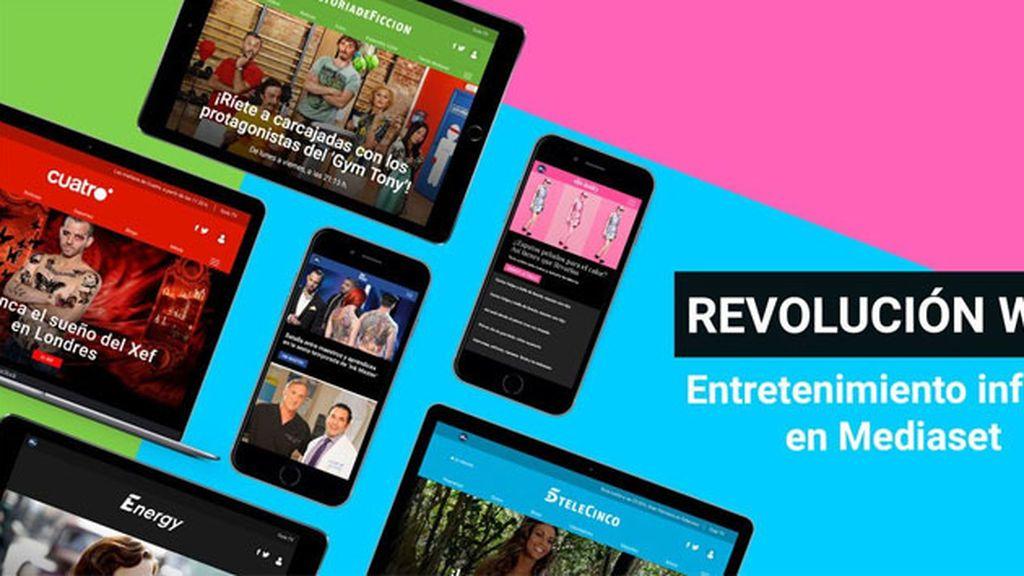 Revolución en las webs de Mediaset: diseño responsive y nueva navegación y arquitectura