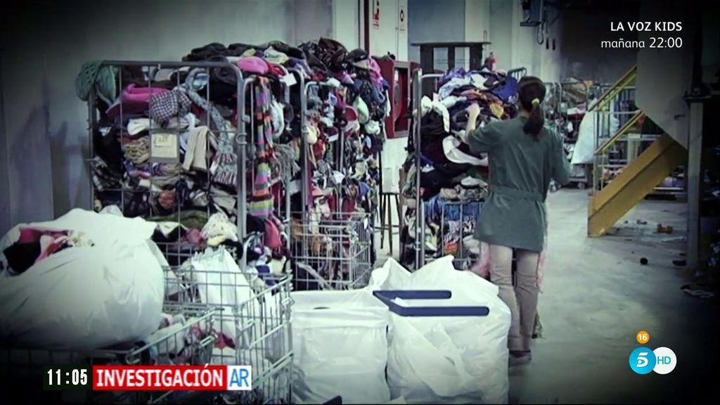 'AR' descubre el oscuro negocio de la ropa usada de los contenedores sociales