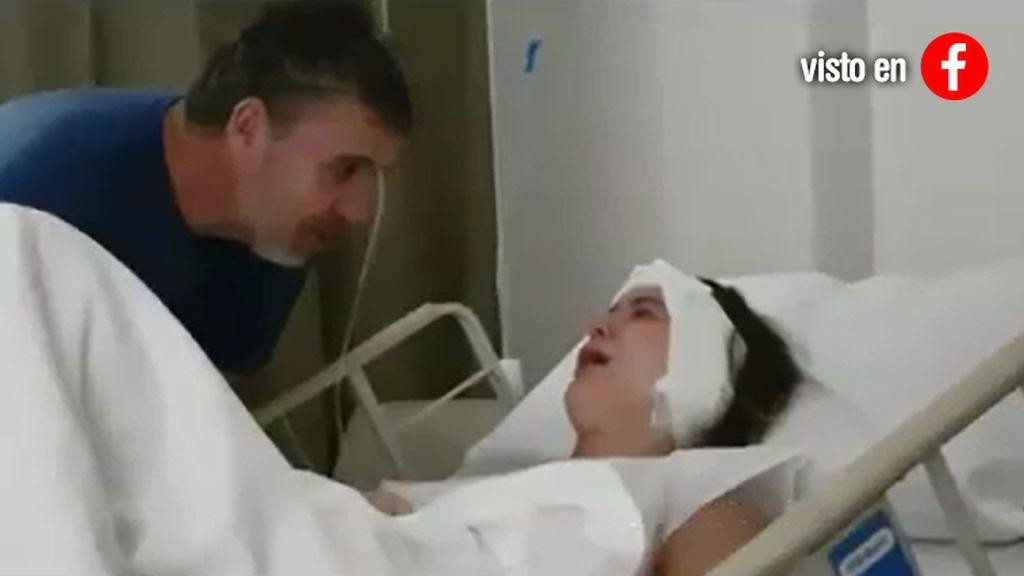 """Una madre graba el delirio de su hija tras salir de la anestesia: """"¡Qué vuelva Messi!"""""""