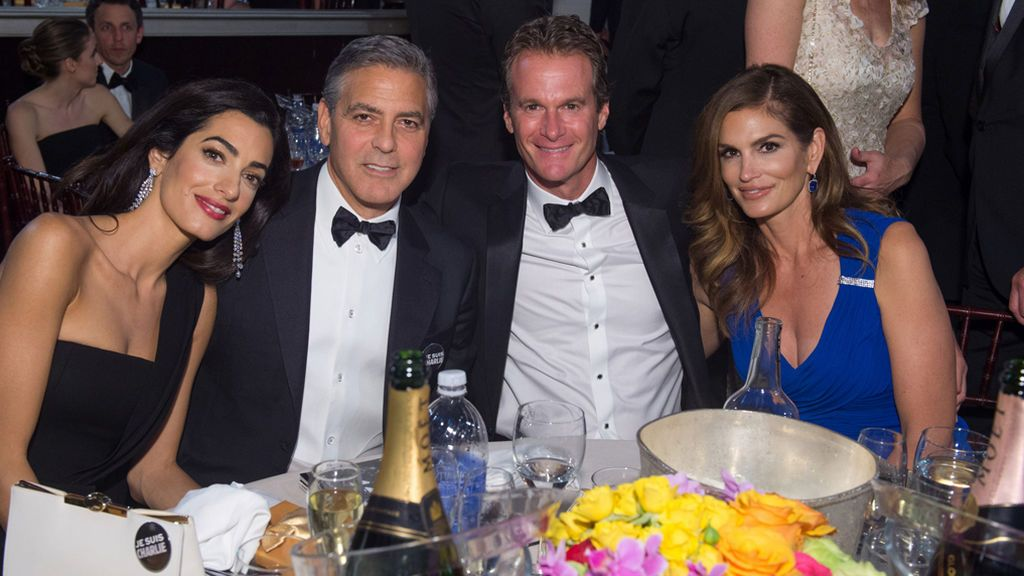 Cindy Crawford  Clooney y Amal
