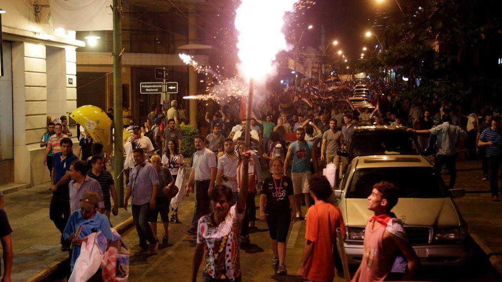 Manifestación contra el presidente en Paraguay