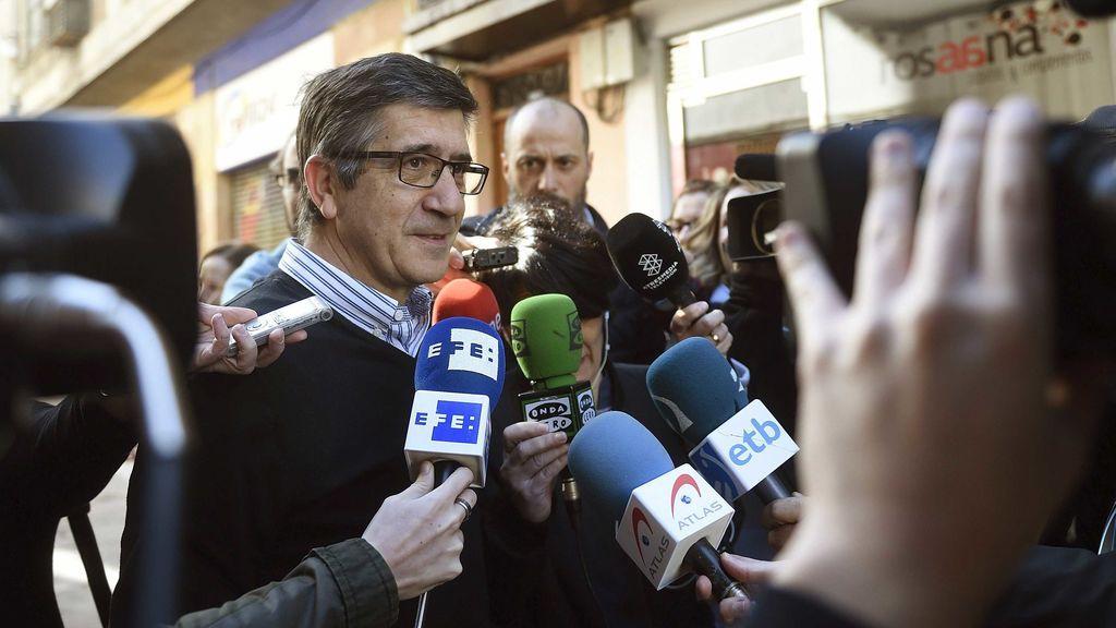 """Patxi López pide """"dejar atrás la agresividad"""" en el proceso de primarias"""