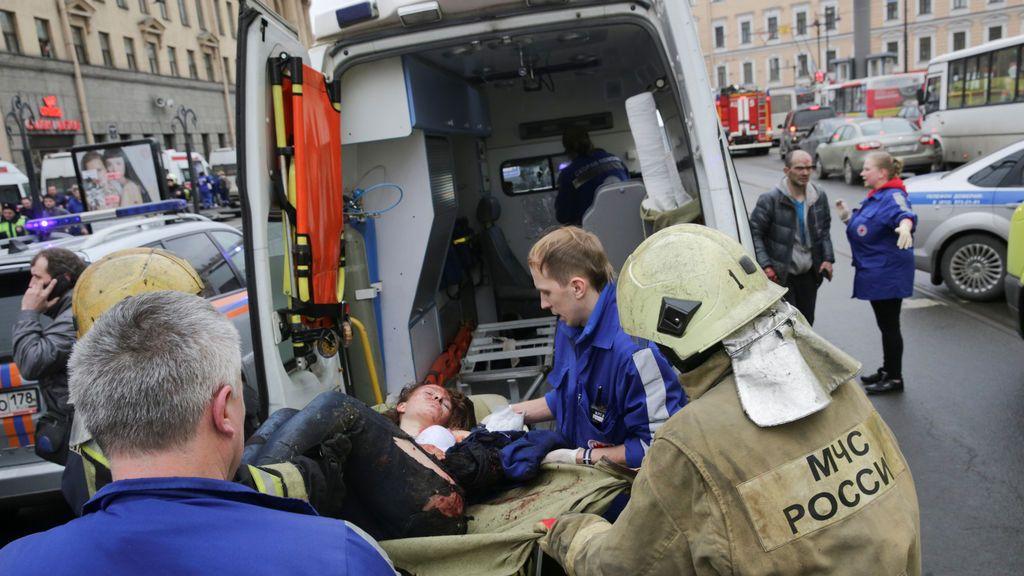 Las imágenes de la tragedia en el metro de San Petersburgo