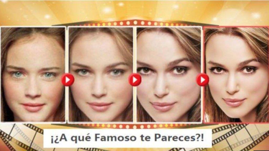La otra cara del juego viral de Facebook 'a qué famoso te pareces'