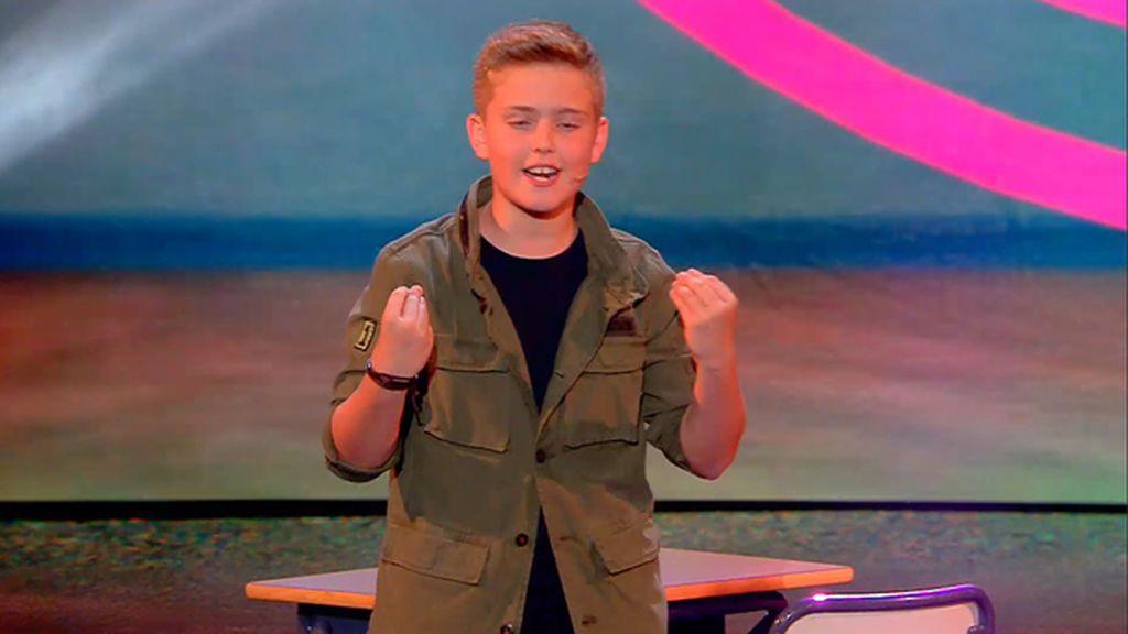 José Miguel vuelve a divertir a todos con su monólogo en 'Got Talent Junior'