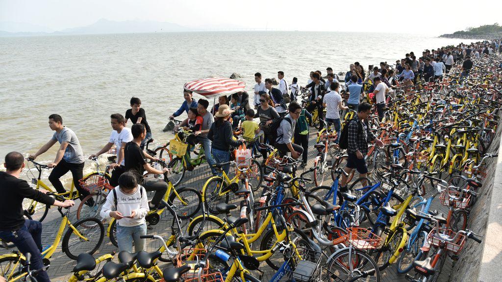 Aparcamiento de bicicletas masivo en China