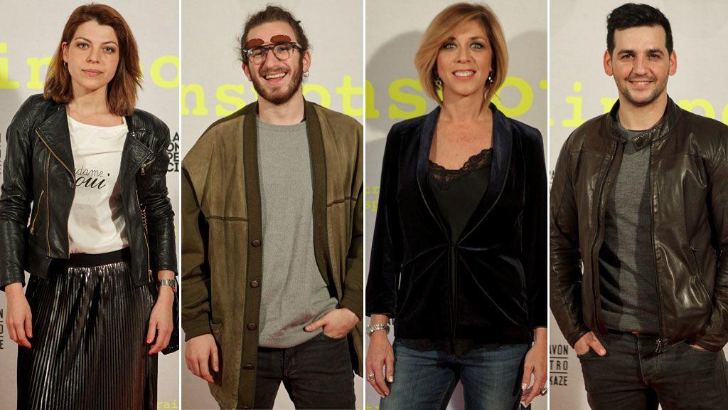 Thais Blume, David Castillo, Eva Isanta y Fran Perea, en el estreno teatral de 'Trainspotting'