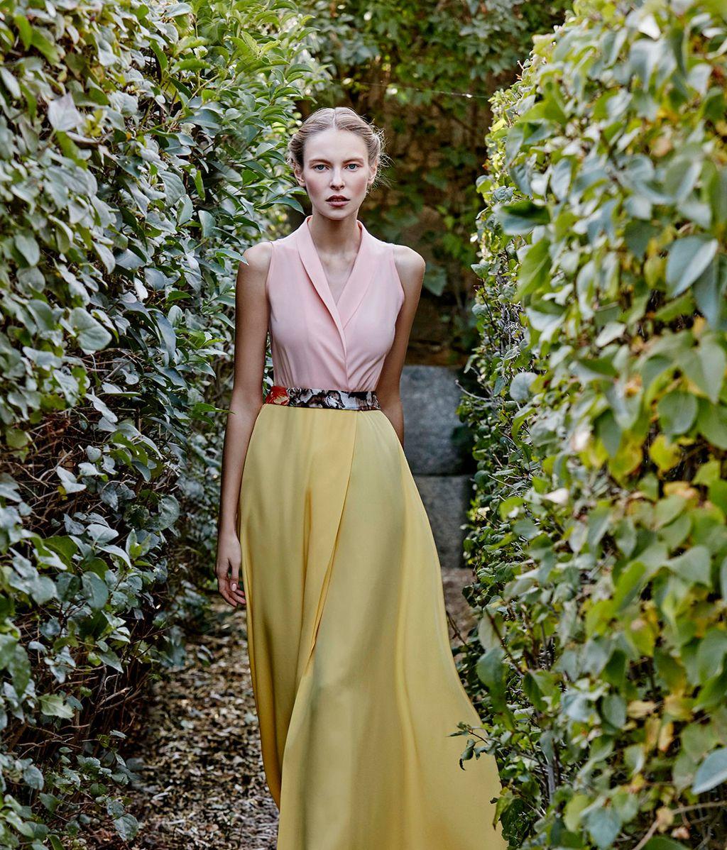 Vestido bicolor de Dolores Promesas Heaven