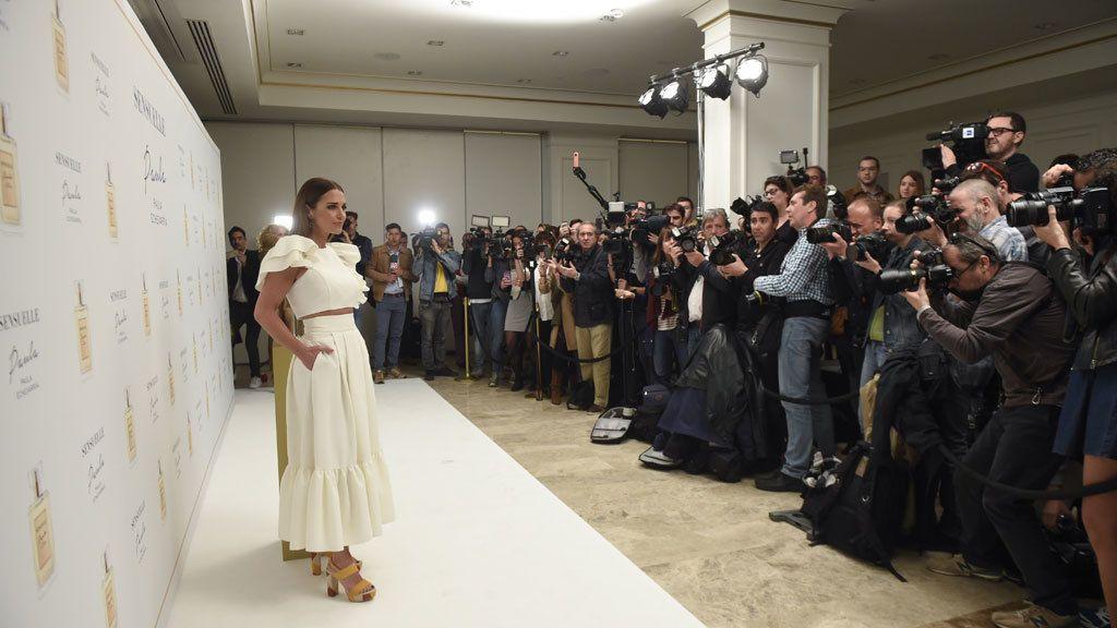 La expectación mediática era máxima y la actriz estaba nerviosa
