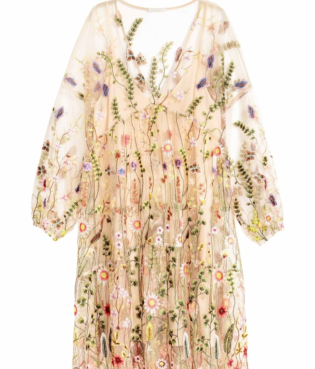 Vestido bordado de H&M