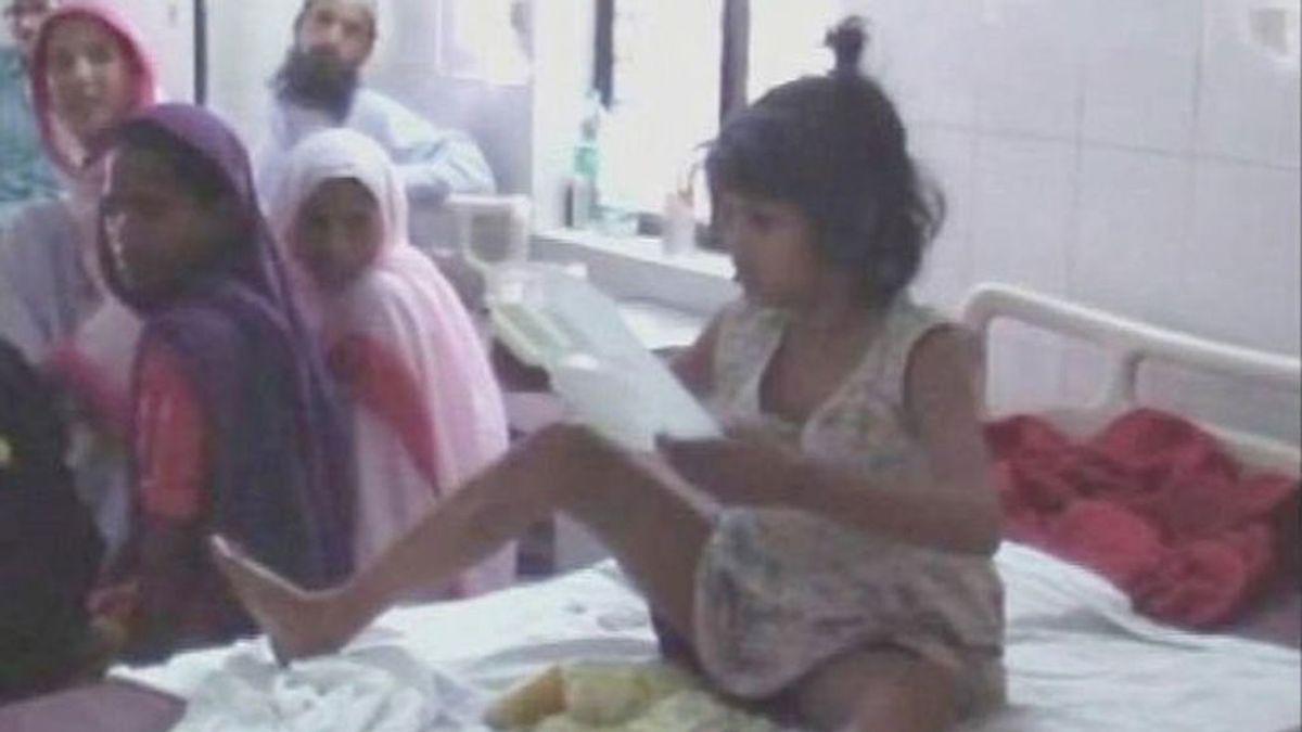 Hallan una 'niña Mowgli' viviendo con monos en la India