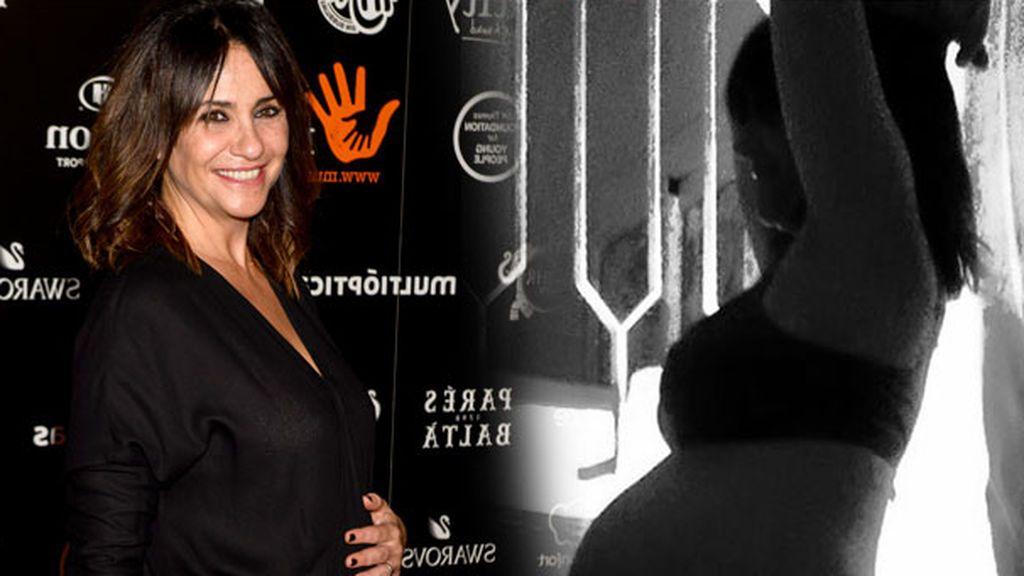 Melani Olivares, a punto de dar a luz, presume de embarazo en redes