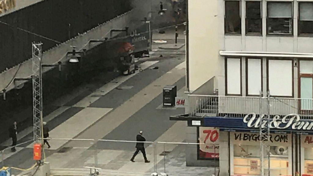 Imágenes de la tragedia en Estocolmo