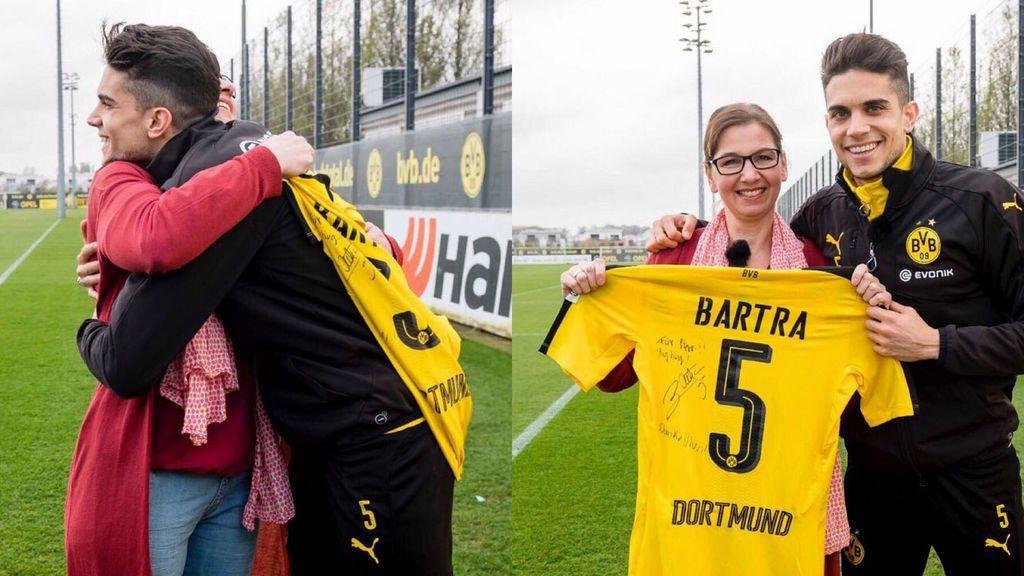 Bartra y Steffi, la valiente fan del Dortmund