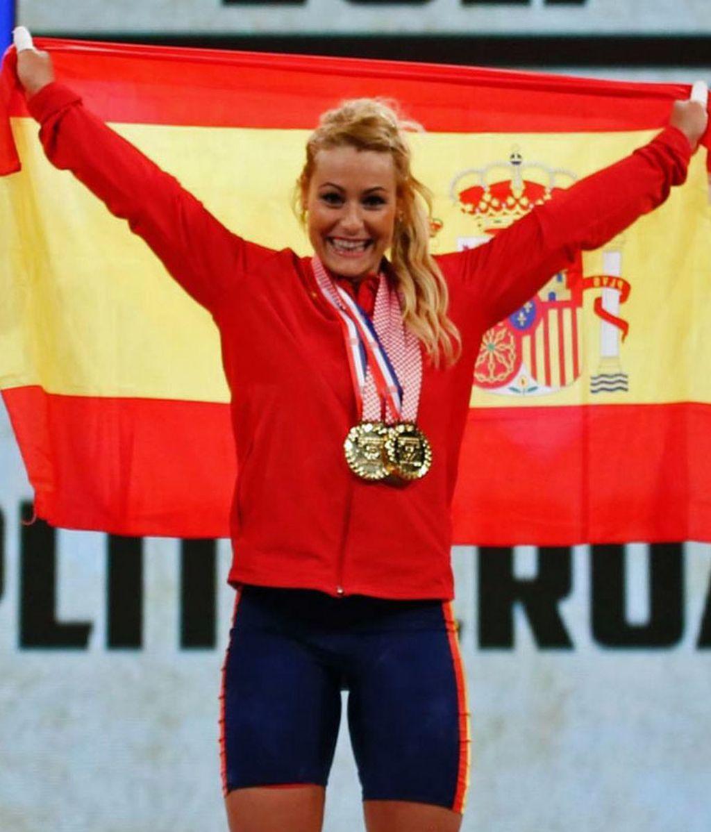 Lydia Valentín, triple campeona de Europa de halterofilia ¡Grande!