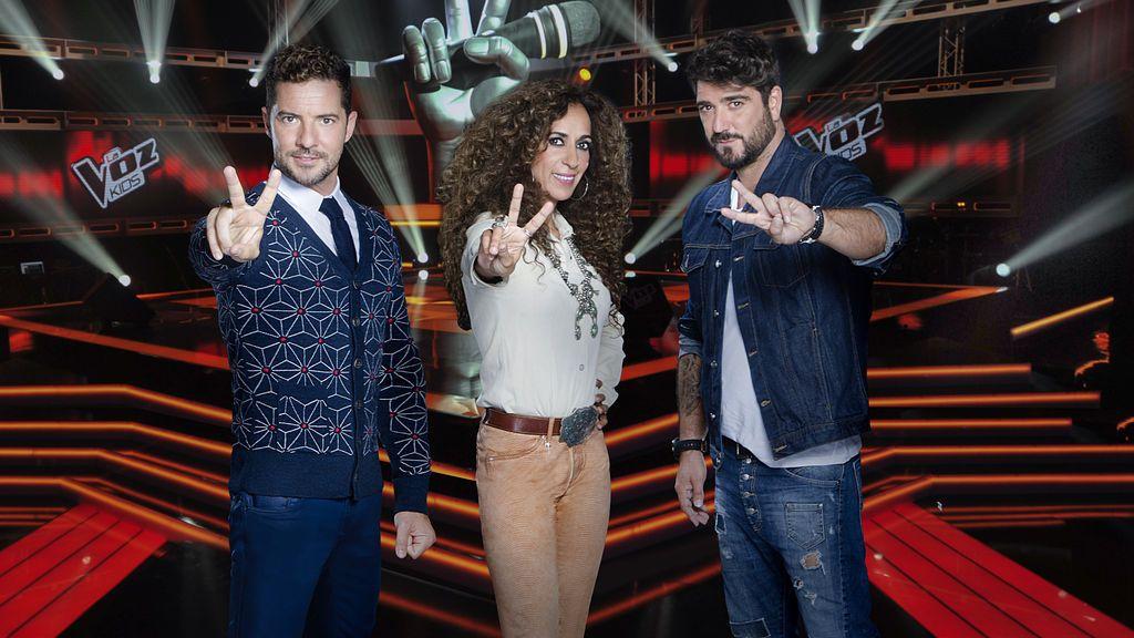 Bisbal, Rosario y Orozco completan sus equipos en el emocionante desenlace de las 'Audiciones a ciegas' de 'La Voz Kids 3'