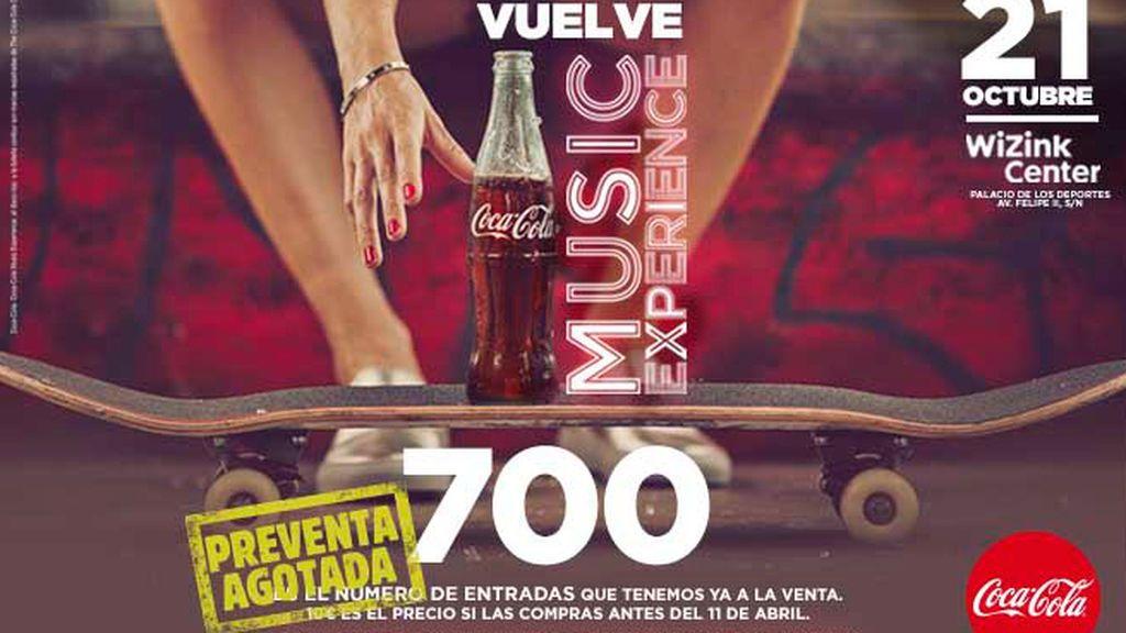 ¡Se agotan las 700 entradas de preventa para Coca-Cola Music Experience!