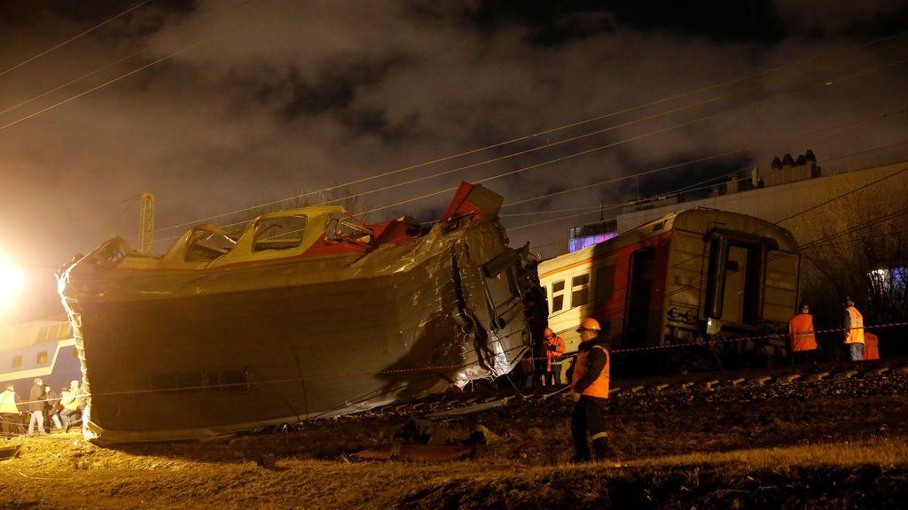 Choque de trenes en Moscú
