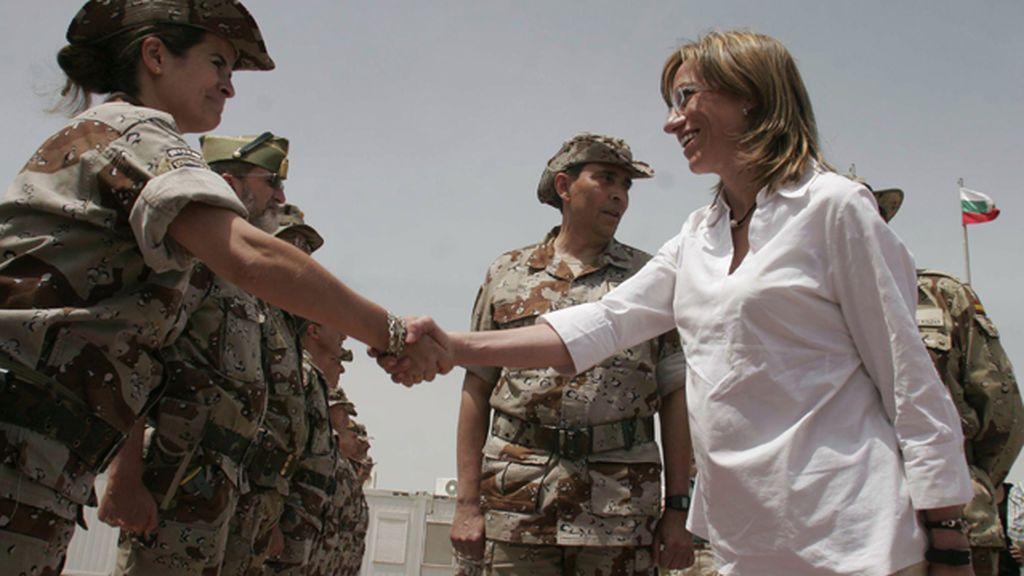 carme chacon tropas afganistan