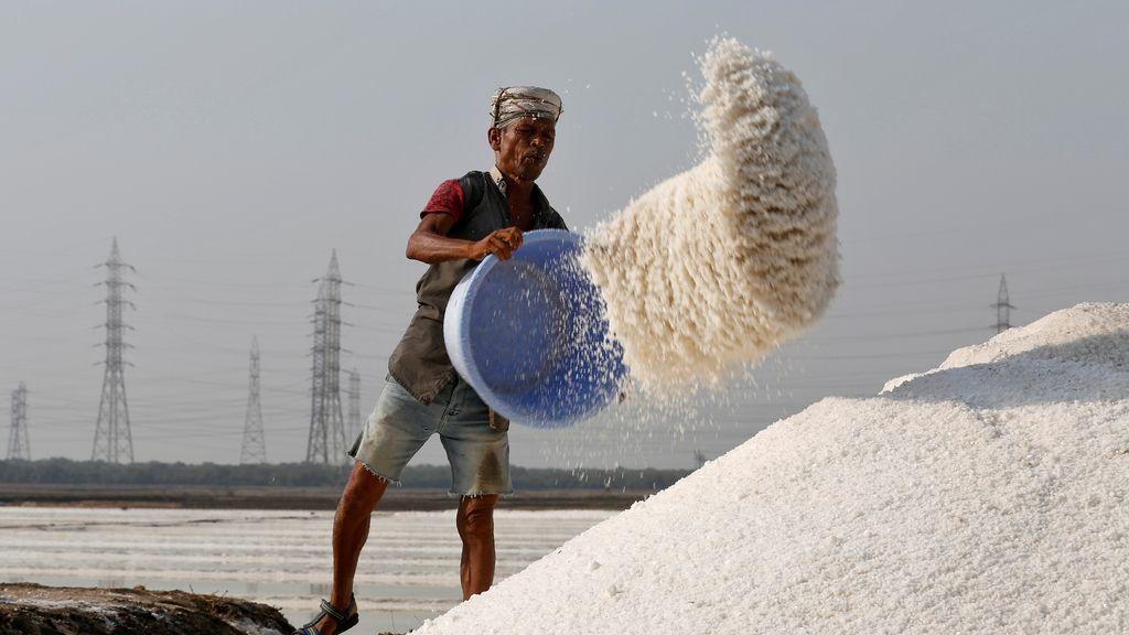 El trabajo para producir sal
