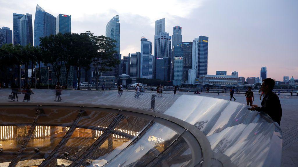 El distrito central de negocios en Singapur