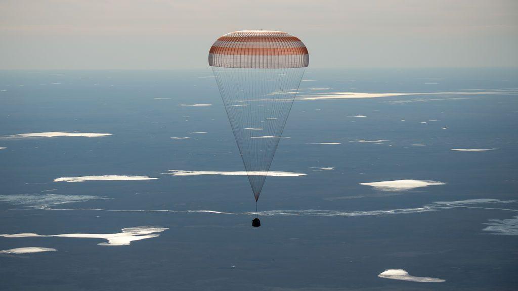 Regreso exitoso a Tierra de tres astronautas de la ISS