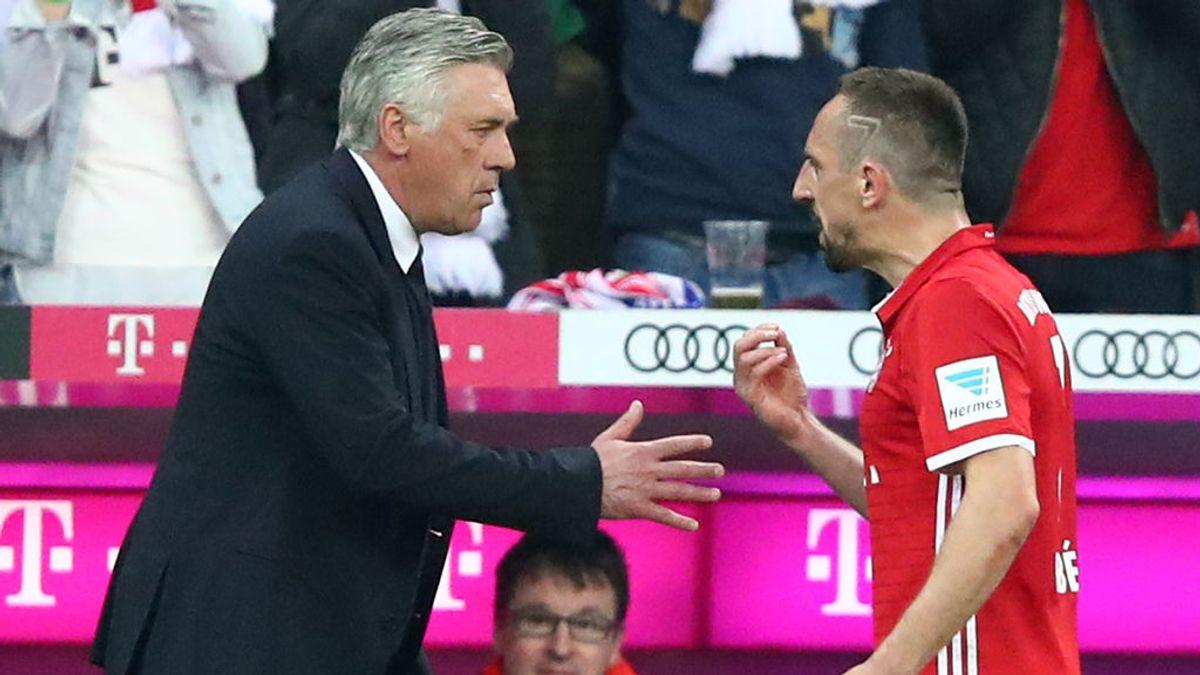 Ribery se enfada tras ser sustituido y Ancelotti se disculpa con un beso ¡Momentazo!