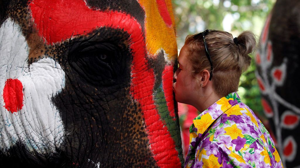 Festival de agua Songkran en Tailandia