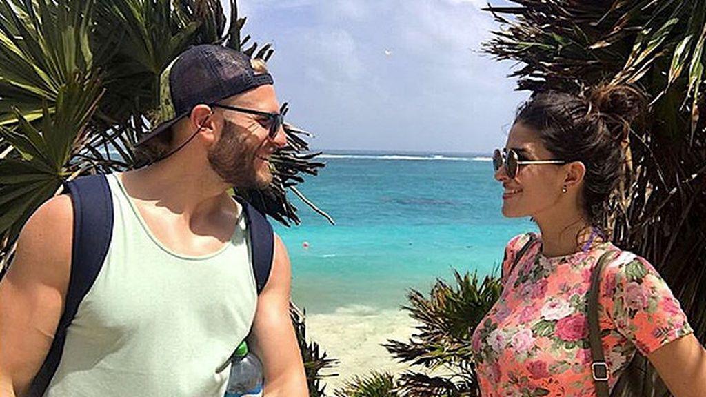 Lidia y Matías pasean su amor por las paradisíacas playas de México
