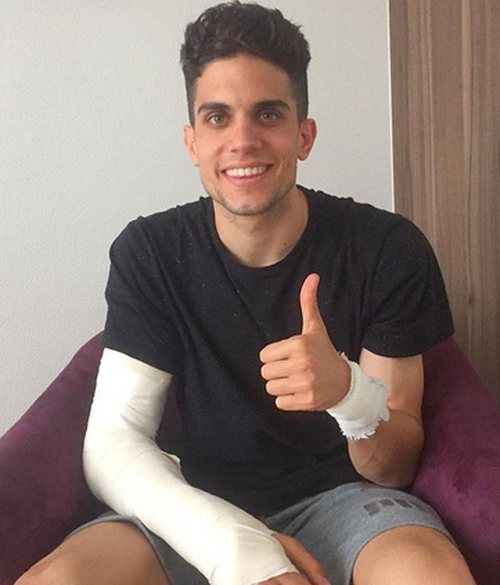 """Marc Bartra: """"Ya estoy mucho mejor, muchas gracias a todo el mundo"""""""